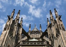 View of the St. Vitus Cathedral in the area of the Prague Castle Stock Image