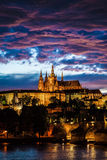 View of St. Vitus Cathedral in Prague Royalty Free Stock Photos
