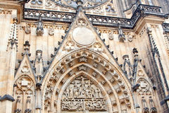 View of St. Vitus Cathedral in Prague Royalty Free Stock Images