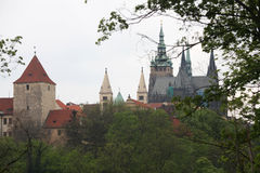 The view of St. Vitus Cathedral in Prague Castle Royalty Free Stock Photo