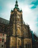 View of St. Vitus Cathedral in Prague, Czeh republic. Tourist place Royalty Free Stock Photos