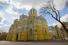 View on St. Vladimir Cathedral sunlit. Kiev Royalty Free Stock Photography