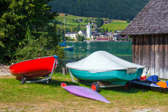 View of St. Wolfgang village Royalty Free Stock Image