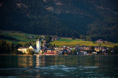View of St. Wolfgang village Royalty Free Stock Photos