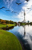 View of stadium in Munich, Germany - Royalty Free Stock Photography