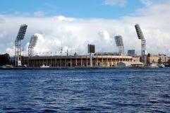 View of the stadium Petrovsky Royalty Free Stock Photo
