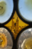 View through stain glass of Krakow cathedral Royalty Free Stock Image