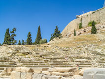View of the stairs at the Parthenon temple Stock Photography