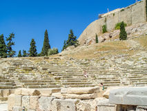 View of the stairs at the Parthenon temple Royalty Free Stock Photo