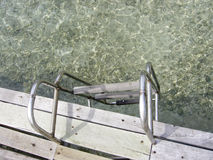 View of stairs and sea Royalty Free Stock Photo