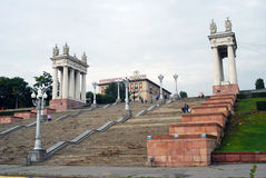 View of the stairs in Volgograd Stock Image