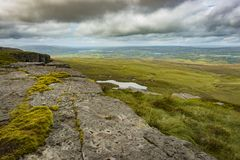View of The Stairway to Heaven at Cuilcagh mountain from the top.  royalty free stock photos