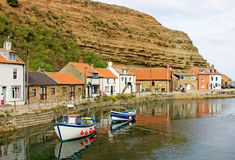 A View of Staithes Harbour Stock Photography