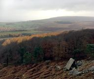 View from Stanage Edge Rock Face royalty free stock photos