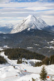 The view of Standseilbahn in Seefeld Stock Photo