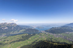 View from the Stanserhorn Royalty Free Stock Photo