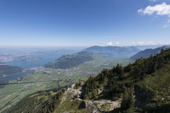 View from the Stanserhorn Royalty Free Stock Images