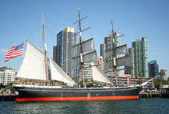 A View of the Star of India Sailing Ship Royalty Free Stock Photo