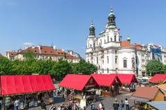View of Staromestske namesti in Prague, Czech republic Royalty Free Stock Image
