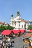 View of Staromestske namesti in Prague, Czech republic Royalty Free Stock Images