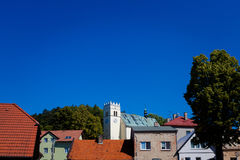 View of Stary Jicin church. Beautiful view of Stary Jicin church. Beautiful Czech landmark Royalty Free Stock Images