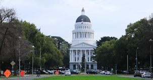 View of the State Capitol in Sacramento, California 4K stock footage