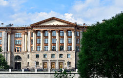 View of the State institute of complex engineering, Saint Petersburg, Russia. The architecture monument of the Stalinist period Royalty Free Stock Images