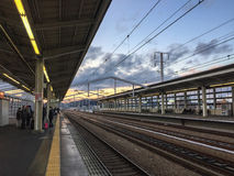 View of the station in Himeji, Japan Royalty Free Stock Images