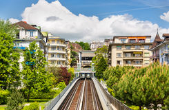 View of Station Jordils of Lausanne Metro Stock Images