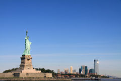 A view of Statue of Liberty Stock Photo