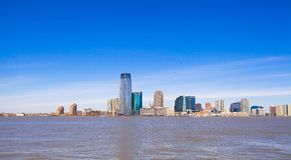 View of the statue of liberty from Battery Park Stock Image