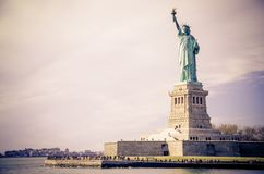 View of Statue of Liberty Stock Images