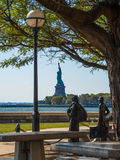 View Statue of Liberty seen from Ellis Island New York royalty free stock image