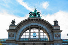 View of statue in Lucerne Stock Images