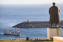 View from statue in Sines on harbour, Portugal Stock Photography