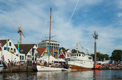 View of Stavanger city, weekend in summer Royalty Free Stock Photo