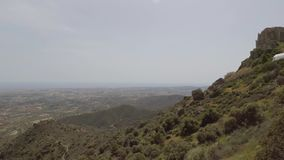 View from Stavrovouni hill. Handheld shot of landscape view from Stavrovouni hill stock video