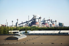 View of Steel Mill Factory Stock Photos