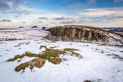 View of Steel Rigg below Hadrian`s Wall Royalty Free Stock Photography
