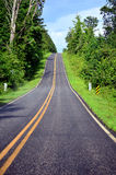 View of Steep Hill on Highway Royalty Free Stock Photos