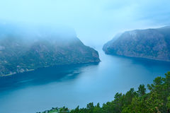 View from Stegastein Viewpoint (Aurland, Norway) Royalty Free Stock Photography
