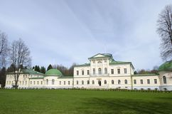 View of Stepanovskoe-Volόsovo  manor of the princely family of the Kurakin located in the village of Volosovo Tver Region Russia. View of Stepanovskoe-Volό stock image
