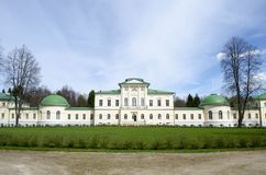 View of Stepanovskoe-Volosovo  manor of the princely family of the Kurakin located in  Tver Region Russia. View of Stepanovskoe-Volosovo  manor of the princely stock photography