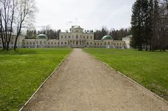 View of Stepanovskoe-Volosovo  manor of the princely family of the Kurakin located in  Tver Region Russia. View of Stepanovskoe-Volosovo  manor of the princely stock image