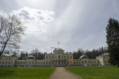 View of Stepanovskoe-Volosovo  manor of the princely family of the Kurakin located in  Tver Region Russia. View of Stepanovskoe-Volosovo  manor of the princely royalty free stock photography
