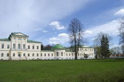 View of Stepanovskoe-Volosovo  manor of the princely family of the Kurakin located in  Tver Region Russia. View of Stepanovskoe-Volosovo  manor of the princely stock photo