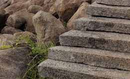 View of steps leading up a hill Stock Photos