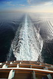 View from stern of big cruise ship. Royalty Free Stock Photo