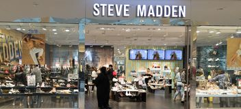 View at Steve Madden store front. Philadelphia, Pennsylvania, May 19 2018:View at Steve Madden shop in the King of Prussia Mall. It is a footwear company founded royalty free stock photography