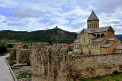 View of Stevitskhoveli monastery in Mtskheta, Georgia Royalty Free Stock Image